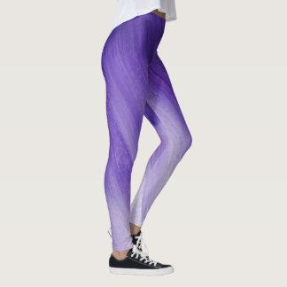Ultraviolett damasker för lilaabstraktkonst leggings