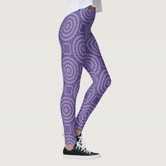 Ultraviolett damasker för Mandalamönstertryck Leggings