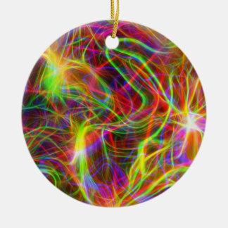 Ultraviolett Squiggly bakgrund Julgransprydnad Keramik