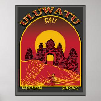 Uluwatu Bali Indonesien Surfbreak Poster