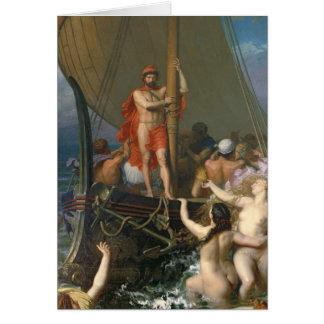Ulysses och sirarna hälsningskort