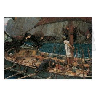Ulysses och sirarna vid JW-waterhousen Hälsningskort