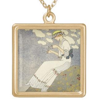 Un Peu…, design för en landklänning av Paquin, 1 Guldpläterat Halsband