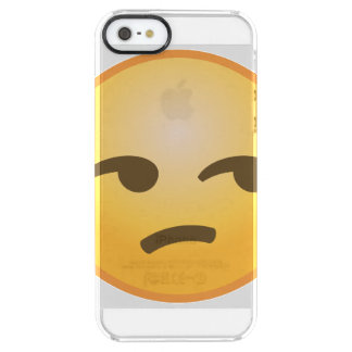 Unamused Emoji Clear iPhone SE/5/5s Skal