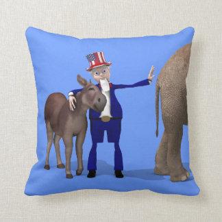 Uncle Sam älskar åsnor Kudde