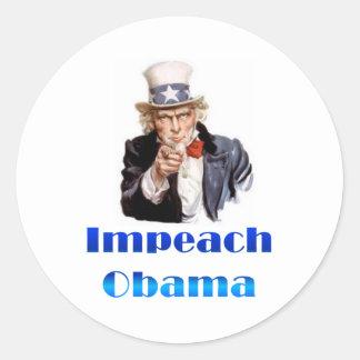 Uncle Sam Impeach Obama Runt Klistermärke