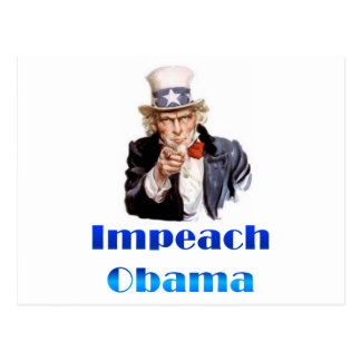 Uncle Sam Impeach Obama Vykort
