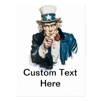Uncle Sam önskar jag dig skräddarsy med din text Vykort