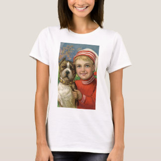 Under $20: Julpojke och hans trogna hund T Shirts