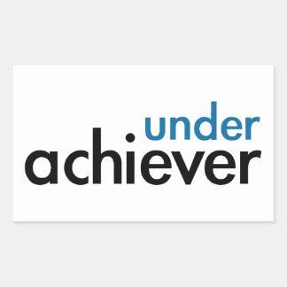 Under Achiever (blått tänder sakkunnig), Rektangulärt Klistermärke
