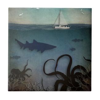 Under havet kakelplatta