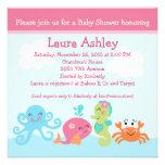 Under havslivet/flickababy showerinbjudan personliga inbjudan