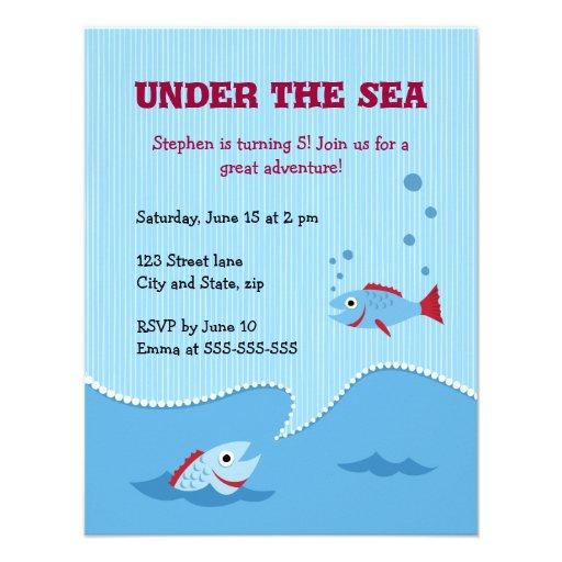 Under inbjudan för havsbarns födelsedagparty
