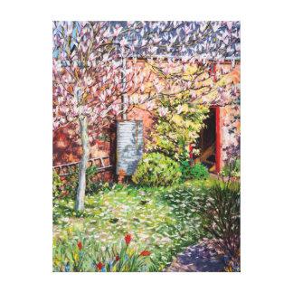 Under magnoliaen canvastryck