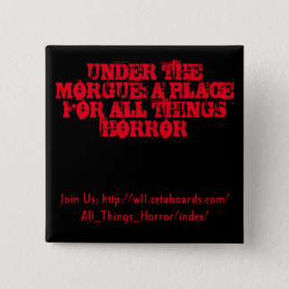 Under morguen knäppas (svarten och rött) standard kanpp fyrkantig 5.1 cm