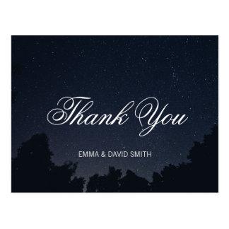 Under tack för bröllop för stjärnasommarnatt vykort