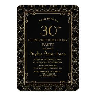 Underbar födelsedagsfest för Gatsby vintageart 11,4 X 15,9 Cm Inbjudningskort