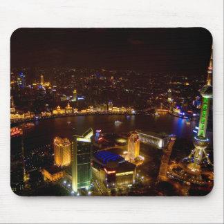 Underbar horisont för Shanghai china med modernt Mus Mattor