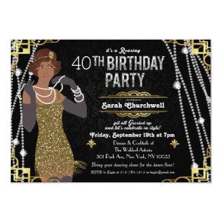 Underbar inbjudan för Gatsby art décofödelsedag