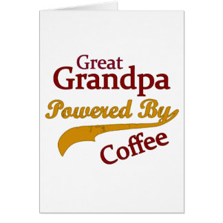 Underbar morfar som drivas av kaffe hälsningskort