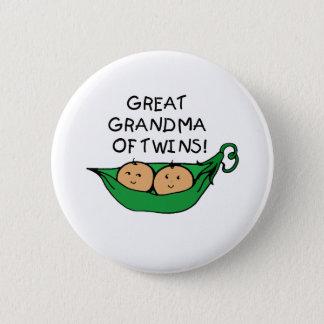 Underbar mormor av twillingarpoden standard knapp rund 5.7 cm