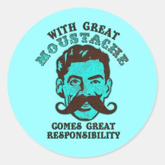 Underbar Moustache Runt Klistermärke