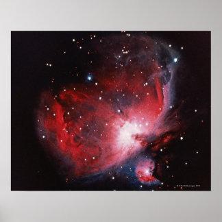 Underbar Nebula i Orion Poster