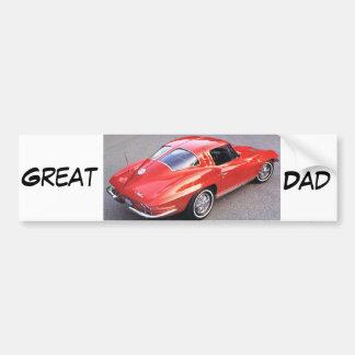 Underbar pappa för fars dag bildekal