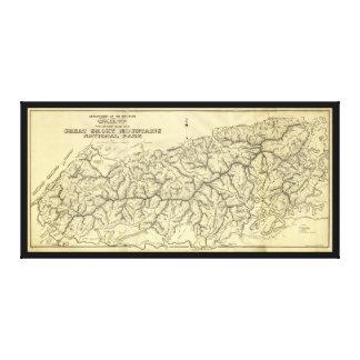 Underbar rökig bergnationalpark (1934) canvastryck