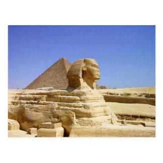 Underbar Sphinx av den Giza vykortet Vykort