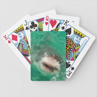 Underbar vit Shark1 Spelkort
