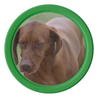Underbar Vizsla hund Poker Marker