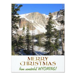 Underbar Wyoming god jul 10,8 X 14 Cm Inbjudningskort