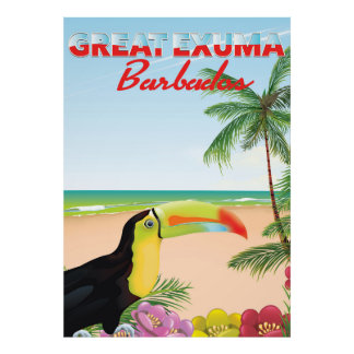 Underbara Euxma Barbados reser affischen Poster
