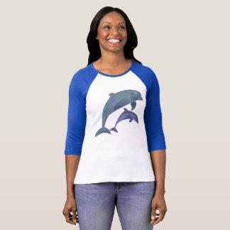 Underbara kvinna 3/4 T-tröja för sleeveRaglan Tee Shirts