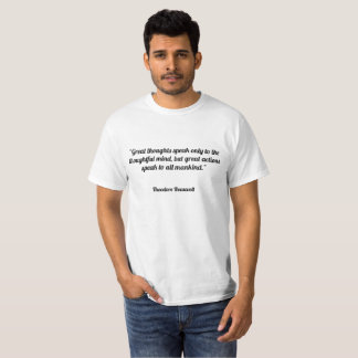 Underbara tankar talar endast till det fundersamt t shirt