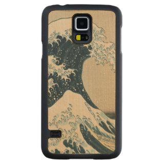 Underbaren vinkar av Kanagawa, beskådar av Mount Carved Lönn Galaxy S5 Skal