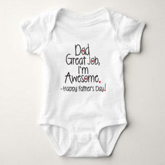 Underbart jobb för pappa mig förmiddagfantastisk. tee shirt