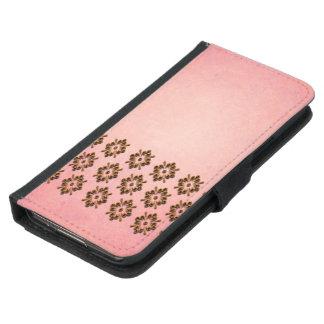 Underbart mönster på rosa bakgrund plånboksfodral för samsung galaxy s5