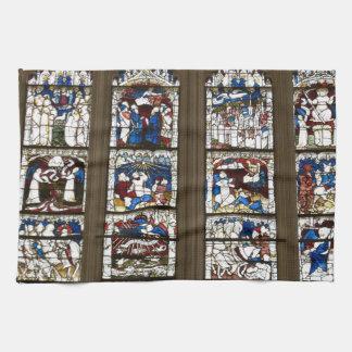 Underbart östligt fönster för York Minster Kökshandduk