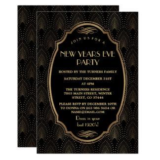 Underbart party Gatsby för charmig ryta 20-tal för 12,7 X 17,8 Cm Inbjudningskort