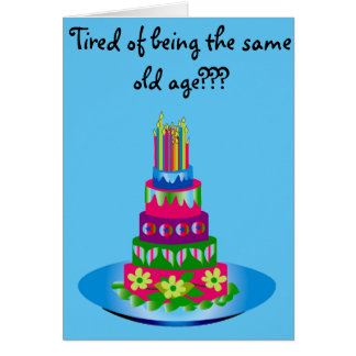 Underhållande födelsedagkort hälsningskort