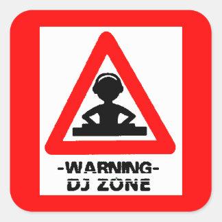 underhållning för party för musik för djs för fyrkantigt klistermärke