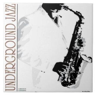 Underjordisk Jazz belägger med tegel Stor Kakelplatta