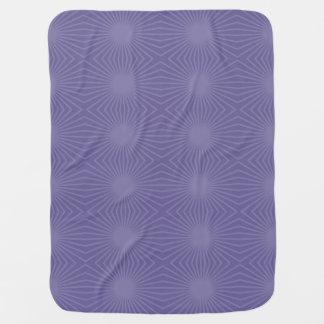 Underkuvat purpurfärgat Starburst mönster Bebisfilt