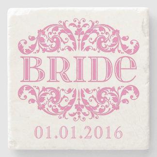 Underlägg för brudbröllopsten sparar daterarosorna stenunderlägg