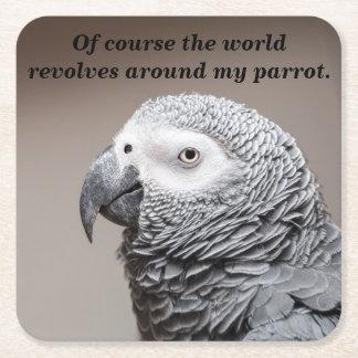 Underlägg världen kretsar runt om min papegoja