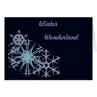 Underland för julSnowflakevinter Hälsningskort
