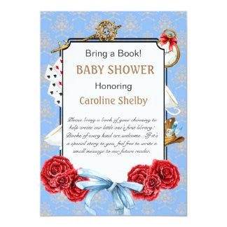 Underland kommer med en bokbaby shower 12,7 x 17,8 cm inbjudningskort