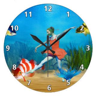 Undersea balett stor klocka